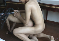 Asian Slave Boy sucking cock