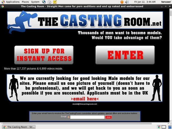 The Casting Room Paypal Option